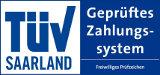 TÜV-Süd-Siegel für myarto.de Leinwanddruckerei - geprüftes Zahlungssystem